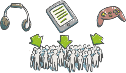 Lieferung von Inhalten für große Vertreiber
